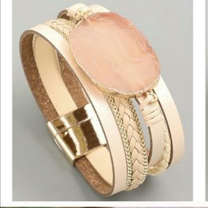 Accessories - Pair Leather cuff bracelets